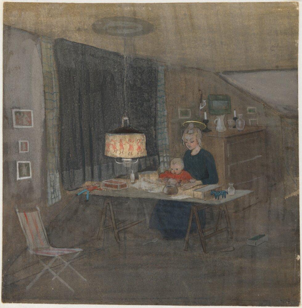 Ivar Arosenius: Madonna (1907). Museo Nacional de Suecia.
