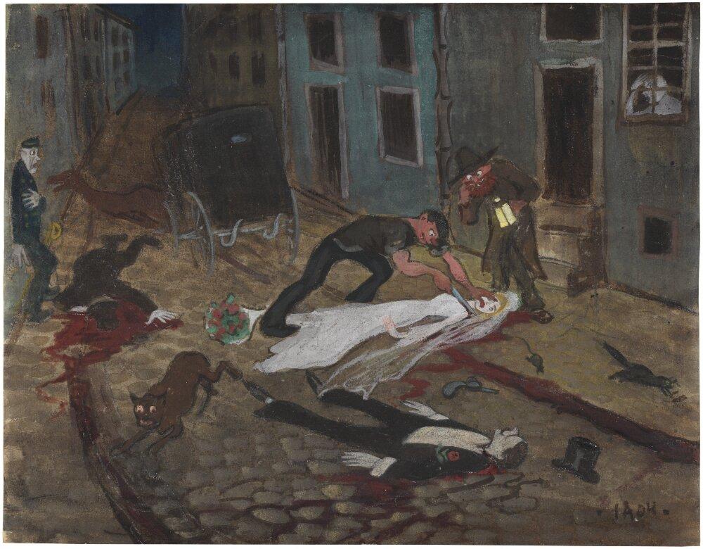 Ivar Arosenius: Parisian Drama (1904). Museo Nacional de Suecia.