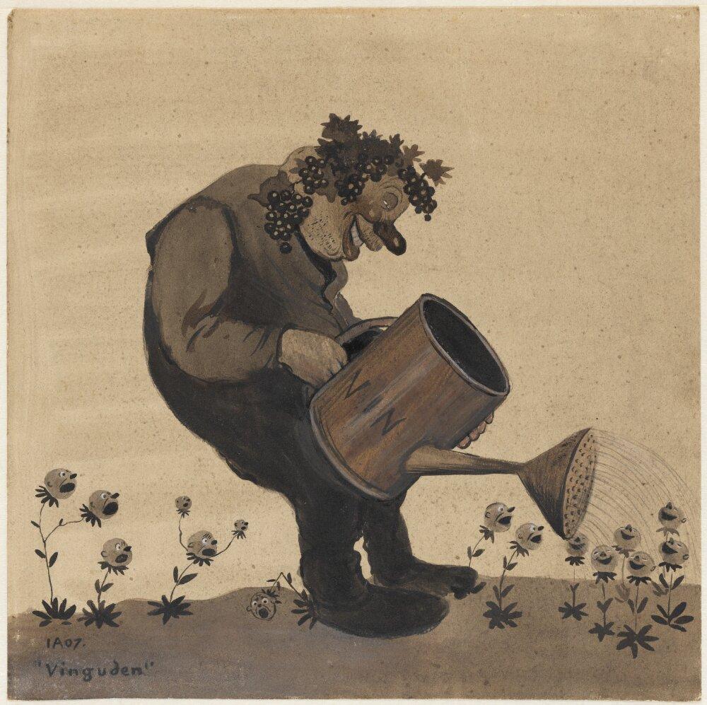 Ivar Arosenius: Vinguden (1907). Museo Nacional de Suecia.