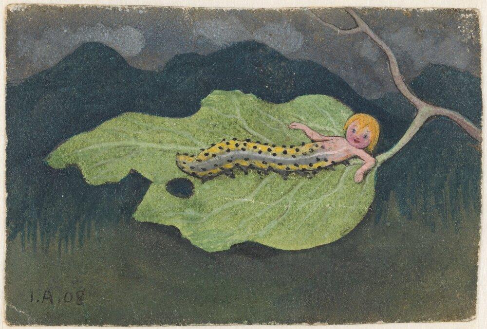 Ivar Arosenius: En kålmask (1908). Museo Nacional de Suecia.