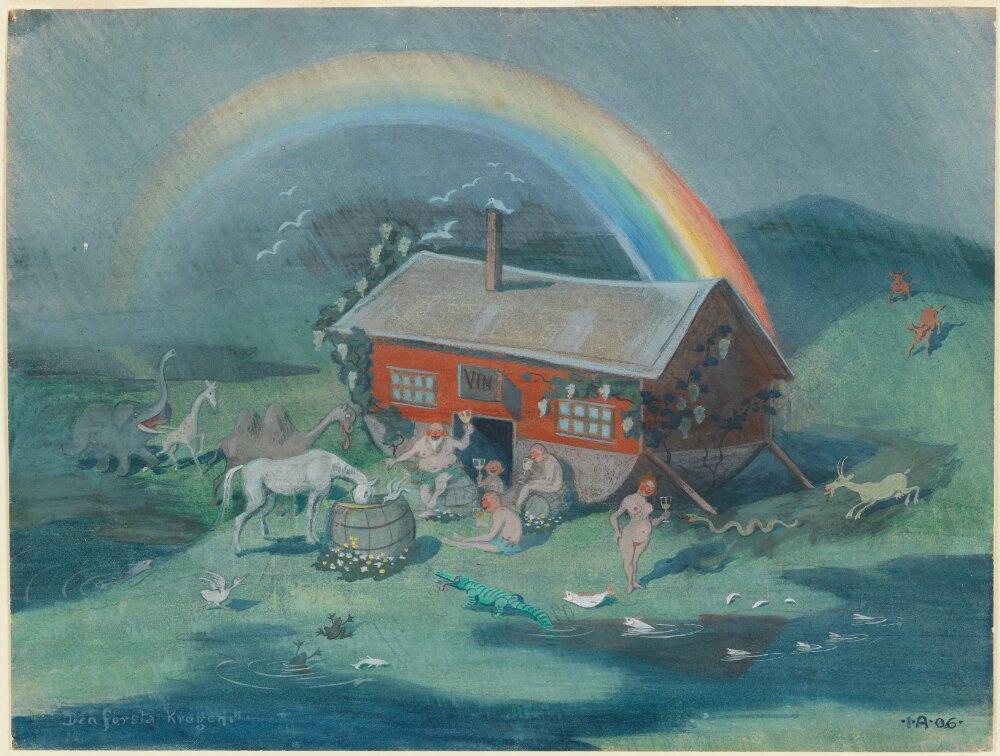 Ivar Arosenius: The first tavern (1906). Museo Nacional de Suecia.
