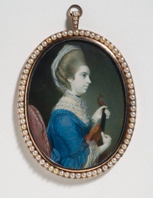 Sarah Hussey Delaval (1742–1821), grevinna av Mexborough spelandes gitarr